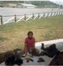 Housegirl polishing boots